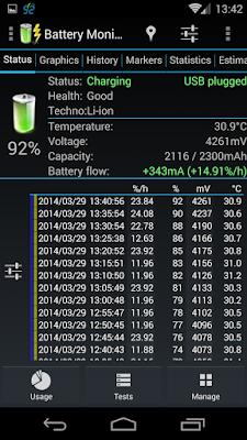 كيفية اصلاح بطارية الموبايل المنتفخة, كود ارجاع البطارية, تطبيق 3C Battery Monitor مدفوع للأندرويد