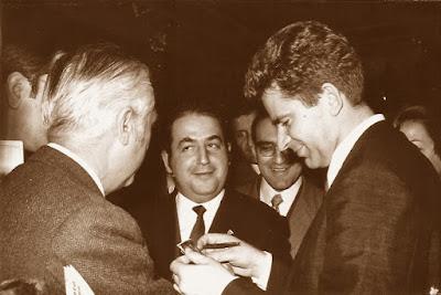 Lucien Francino y Boris Spassky en 1969