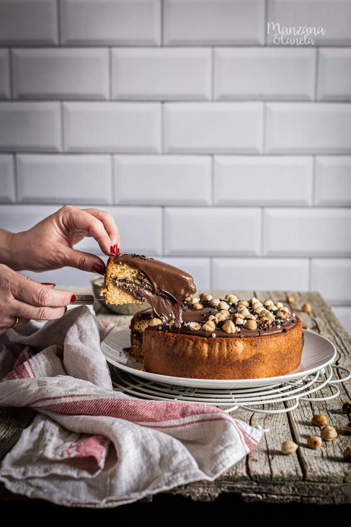 Pastel de Nutella. Receta muy fácil.