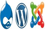 Logotipos de algunos de los sistemas de gestión de contenidos (CMS)