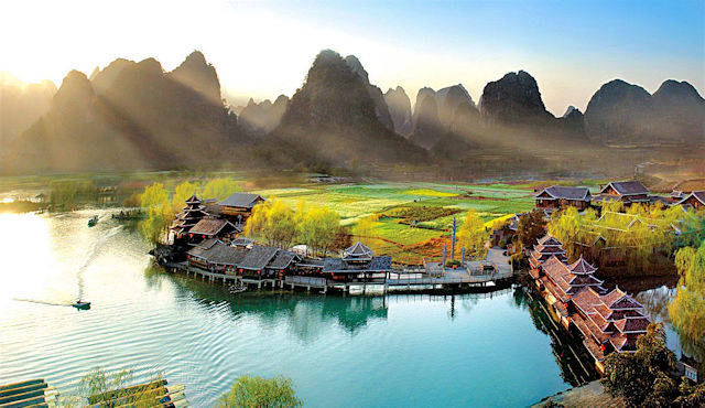 Landschaft in Guilin