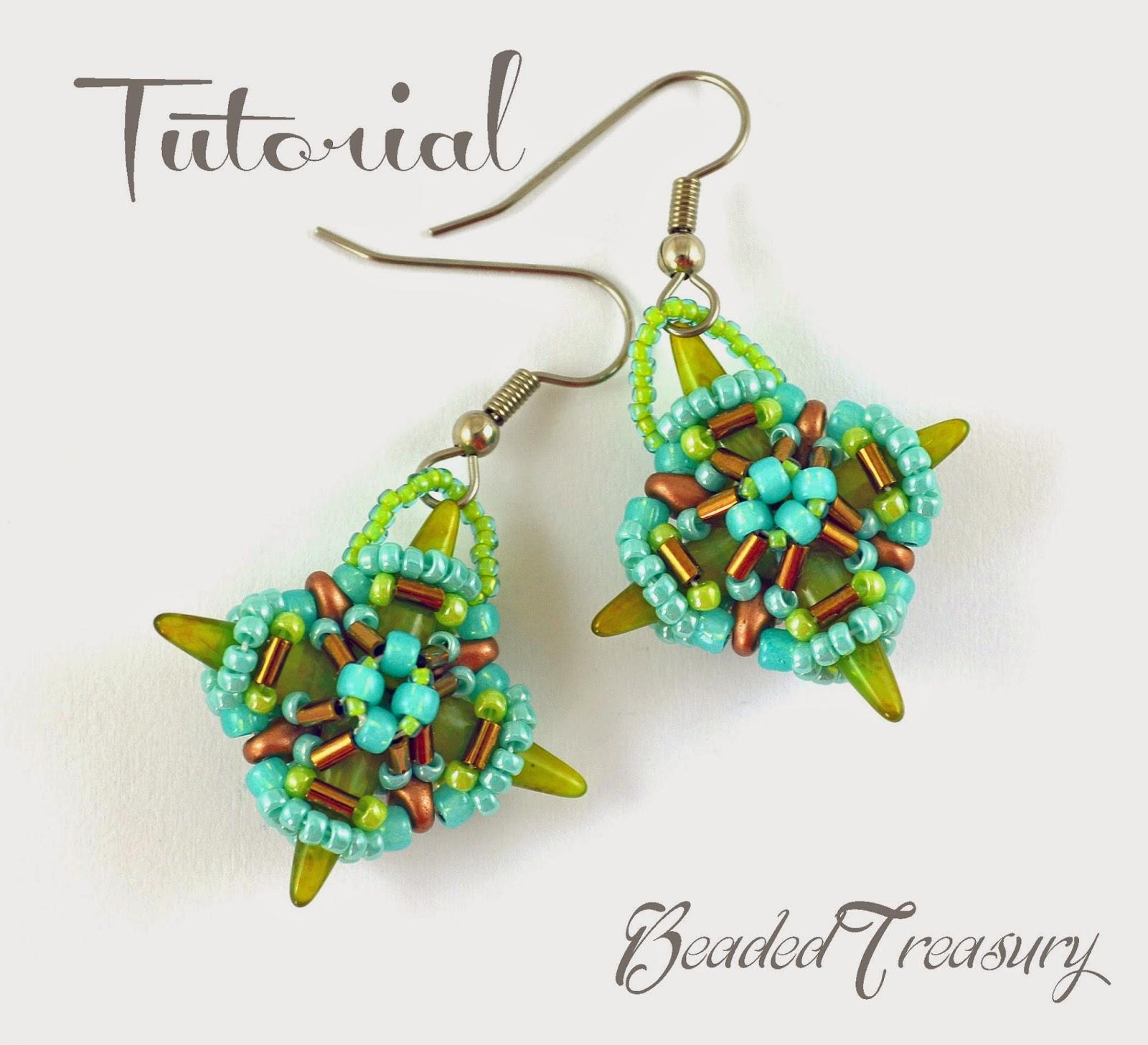 "Beaded Treasury: Beaded earring pattern ""Star Diamond ..."