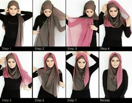 cara memakai hijab modern dan simple