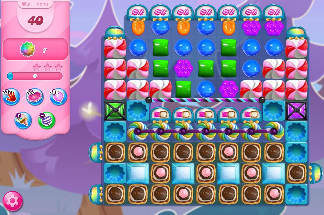 Candy Crush Saga level 7744