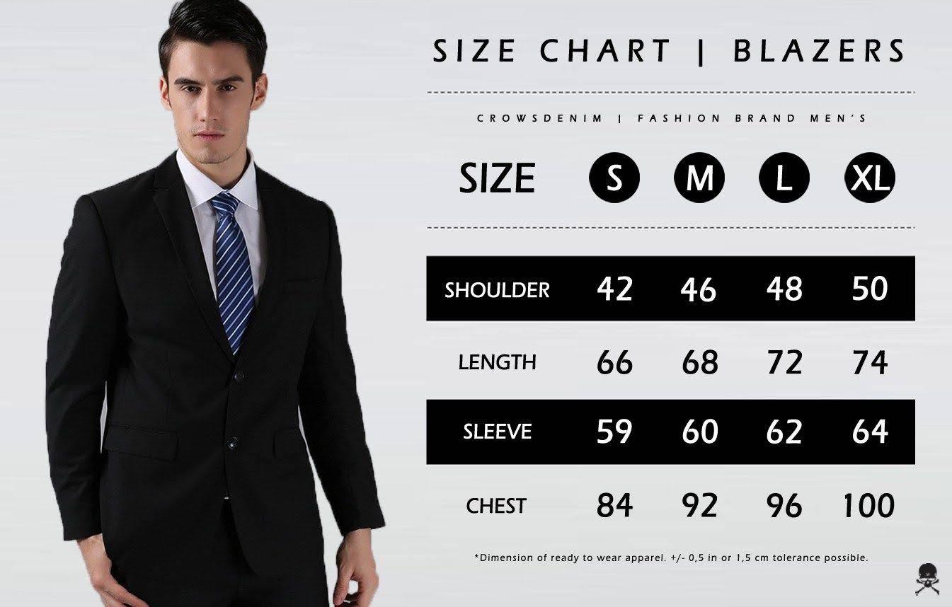 size chat blazer ukuran