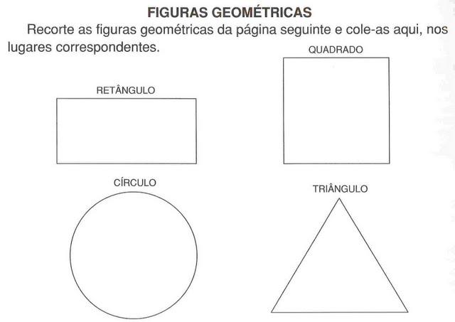 Figuras Geometricas Para Cortar Y Pegar Material Para Maestros