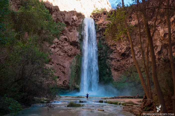 Mooney Falls is the tallest and most forceful of the 5 waterfalls of Havasu Canyon
