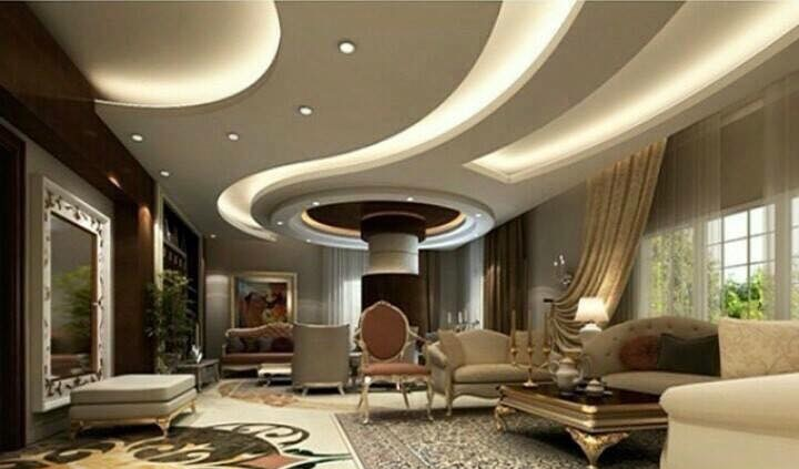 40 Latest gypsum board false ceiling designs with LED ...