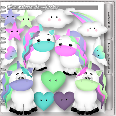Wilma4ever blog train - Unicorn Dreams - CU freebie