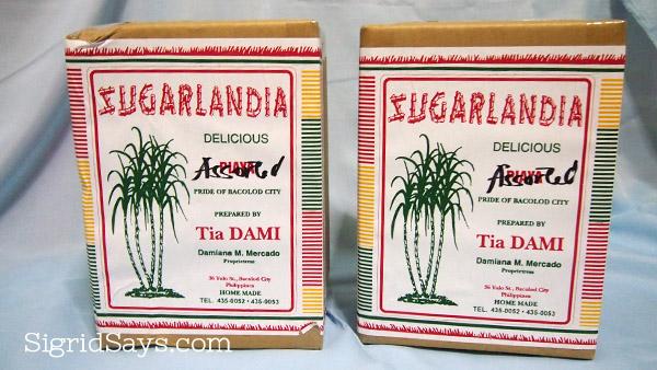 Sugarlandia piaya - Sugarlandia barquillos - Negros Showroom - Bacolod food - Bacolod piaya - original piaya- Tia Dami
