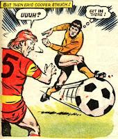 Legendary goalscorer Eric Cooper fires one in (1985/86)