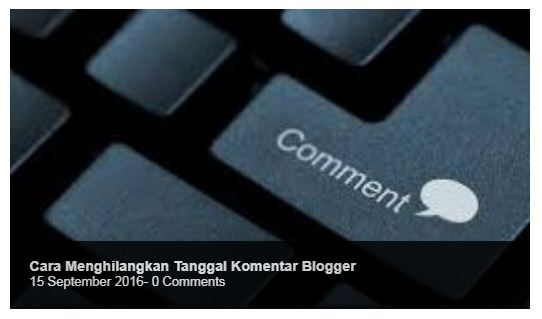 Cara Memasang Featured Post Slider di Halaman Depan Blog