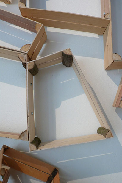 Furniture Design idea: Wall Shelf With Wood Pieces ...