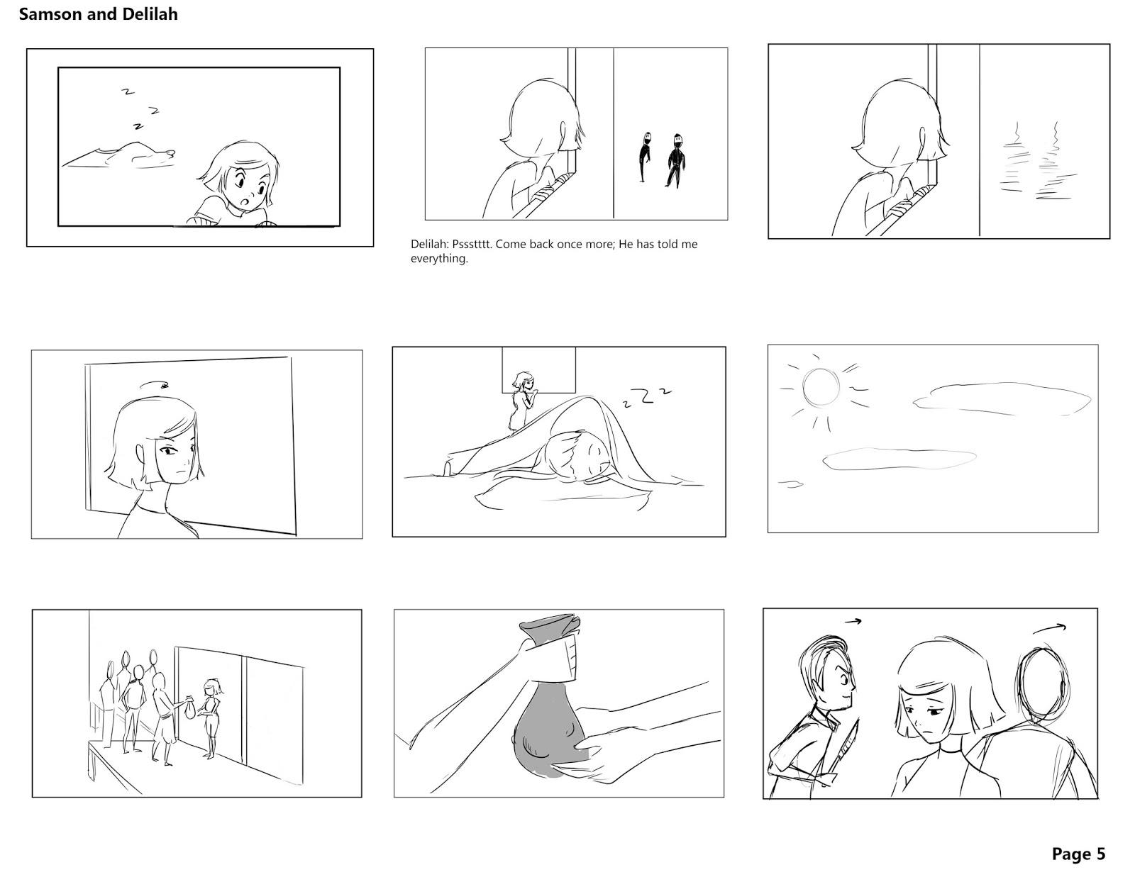 Diana Doung S Storyboard Portfolio Samson And Delilah