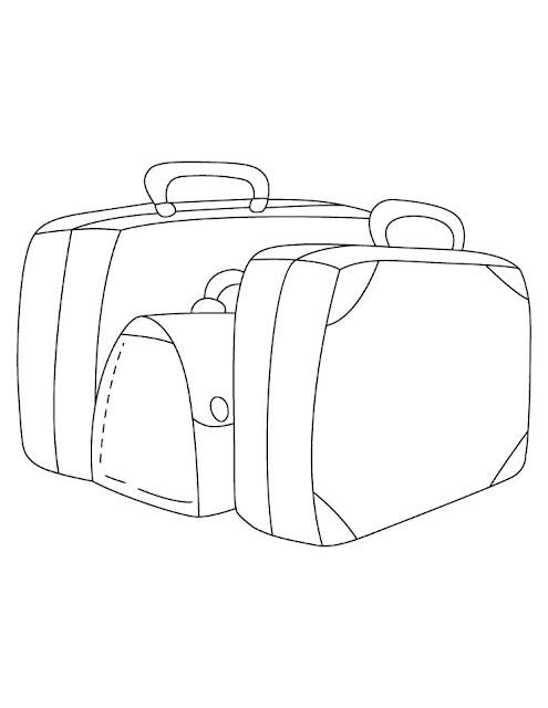 valises à colorier