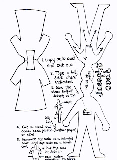 Flame: Creative Children's Ministry: Joseph's coat stick