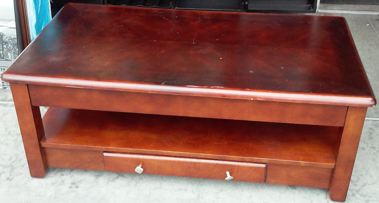 Uhuru Furniture Collectibles Sold 1060 4 39 X 2 39 Pop Up Coffee Table 65