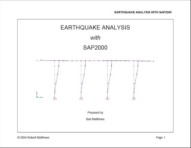 EARTHQUAKE ANALYSIS WITH SAP2000