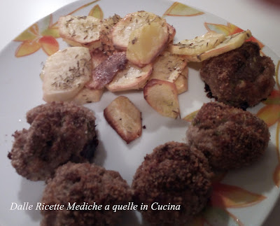 polpette di carne con zucchine al forno
