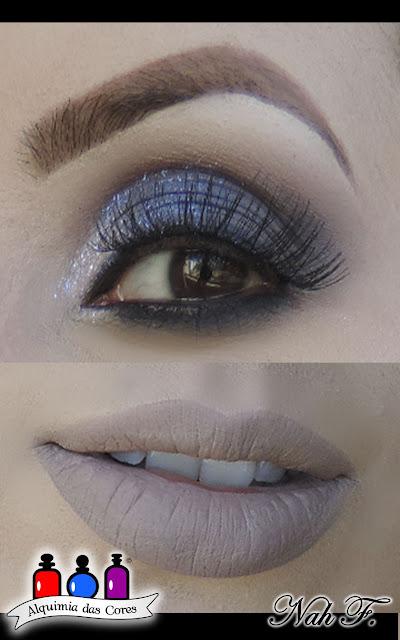 maquiagem azul, azul, batom cinza, luanda, batom luanda, tblogs, luanda ppf tblogs, ppf, Narjara Ferreira,