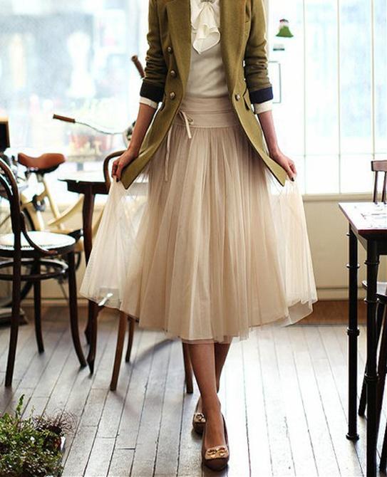 Grosgrain Nylon Tea Length Skirt Diy