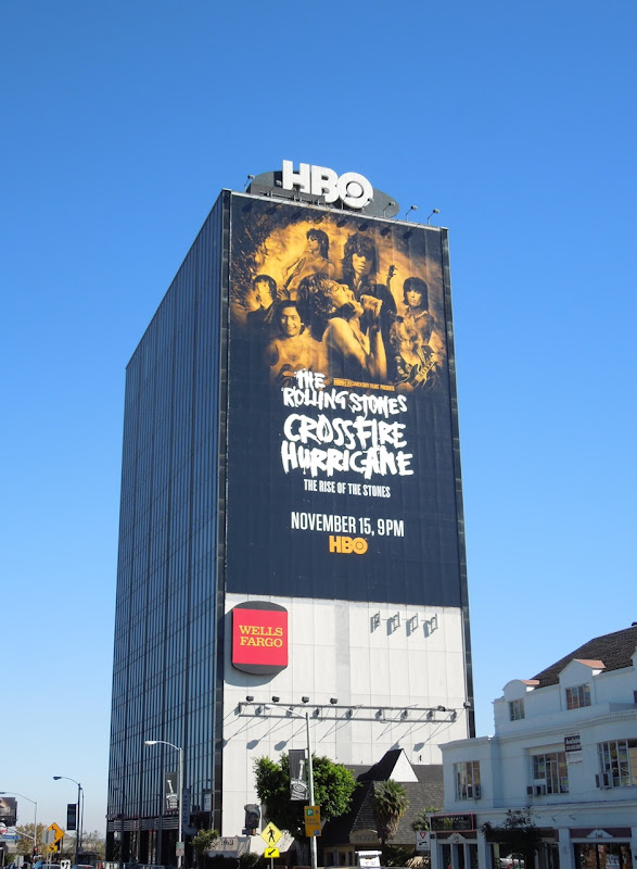 Rolling Stones Crossfire Hurricane billboard Sunset Strip