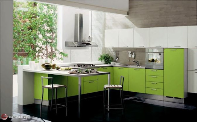Green Color In Details Of Interior Designs 25