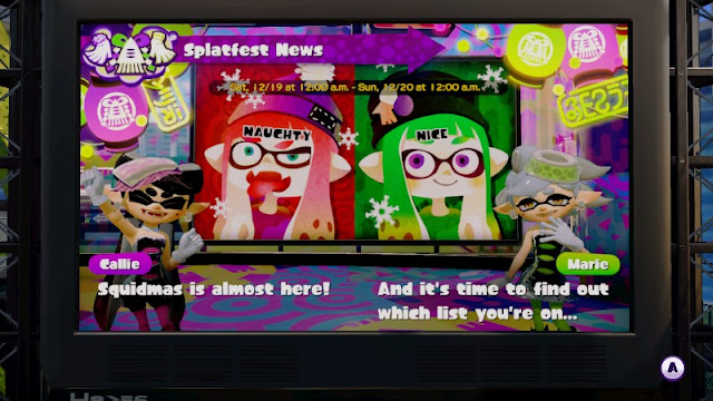 Splatoon Squidmas Splatfest News
