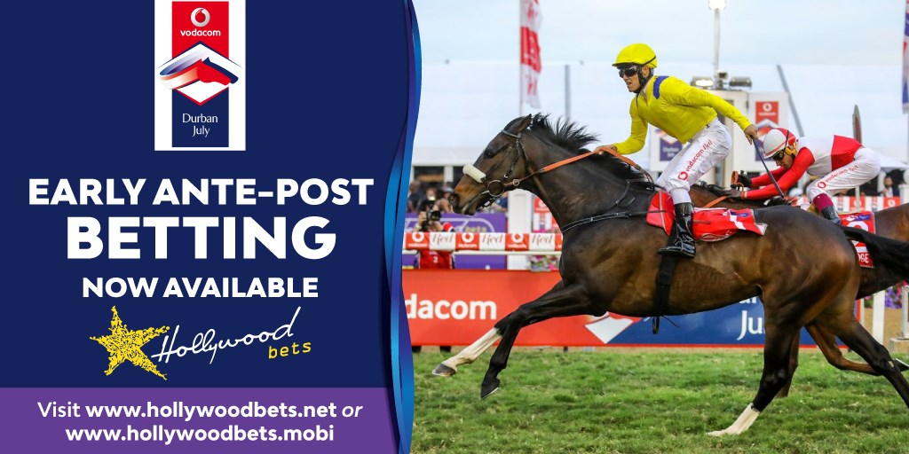Early ante-post betting now available for the Vodacom Durban July at Hollywoodbets - Horse Racing