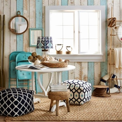 coastal wood paneling idea