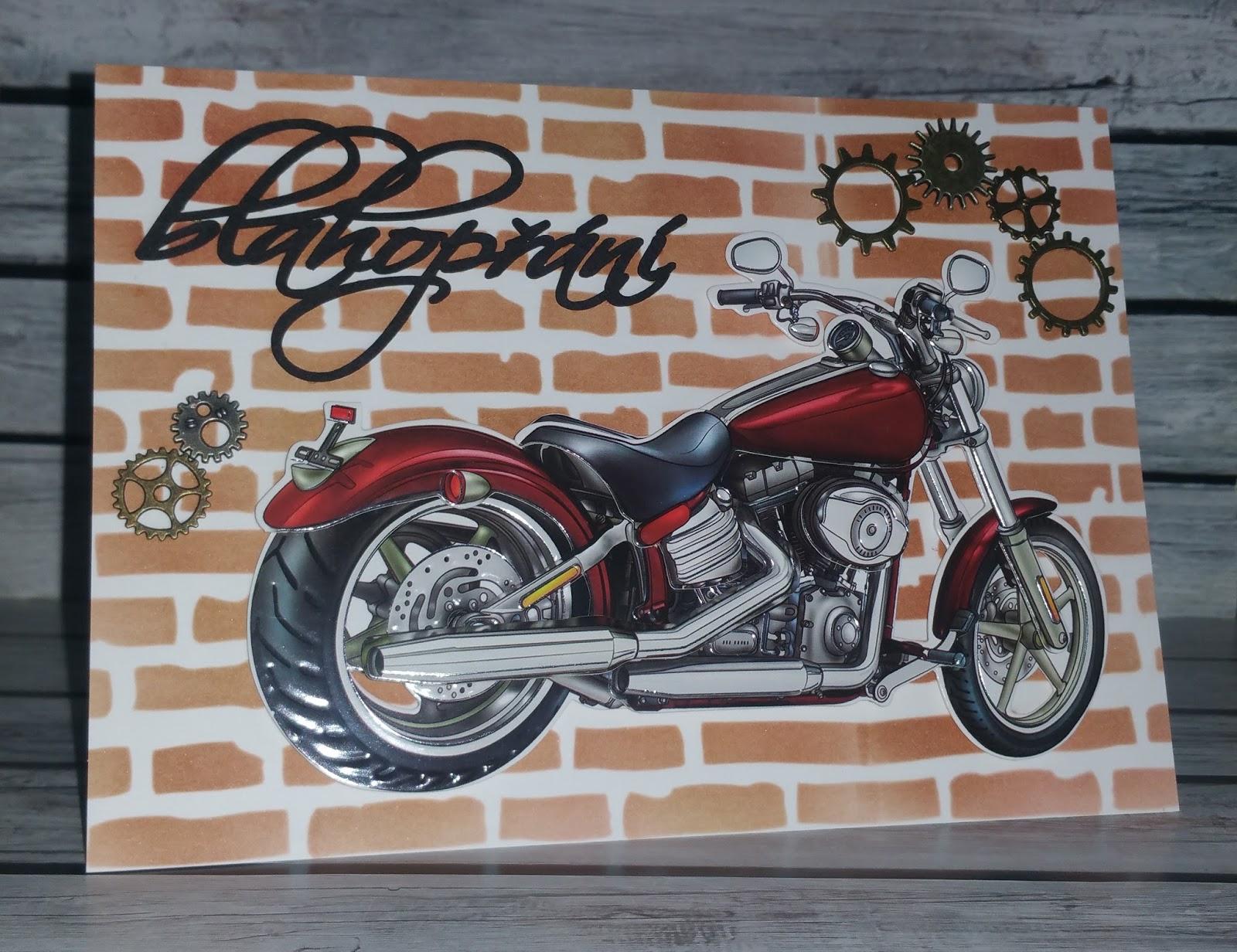 přání k narozeninám motorkáři Janča   Cardmaking: PŘÁNÍ K NAROZENINÁM   MOTORKA přání k narozeninám motorkáři
