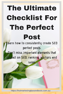 THE ULTIMATE CHECKLIST FOR THE PERFECT POST