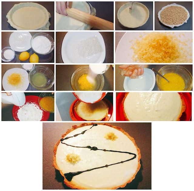 paso a paso para hacer una tarta de limón