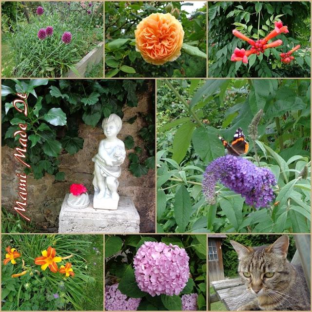 Betonkuchen und Blüten im Juli - Concrete Cake and Flowers in July