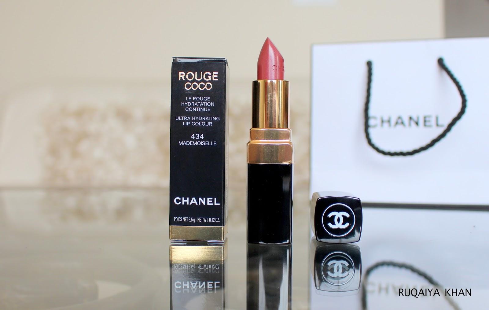 682b33ecdc Ruqaiya Khan: CHANEL ROUGE COCO Ultra Hydrating Lip Colour in 434 ...