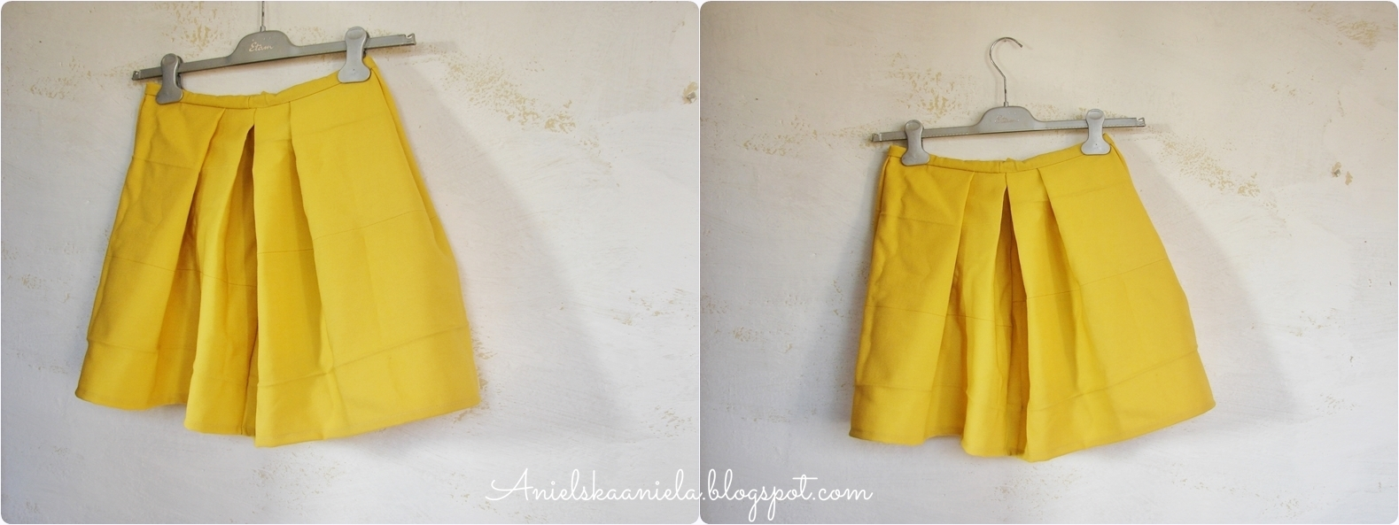 how to sew a pleated skirt turn into a pleated