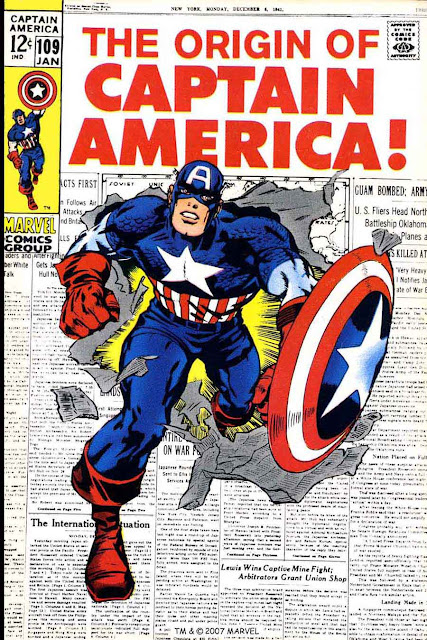 Captain America v1 #10 9marvel comic book cover art by Jack Kirby