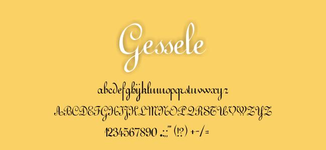 Kumpulan Font Undangan- Gessele Font