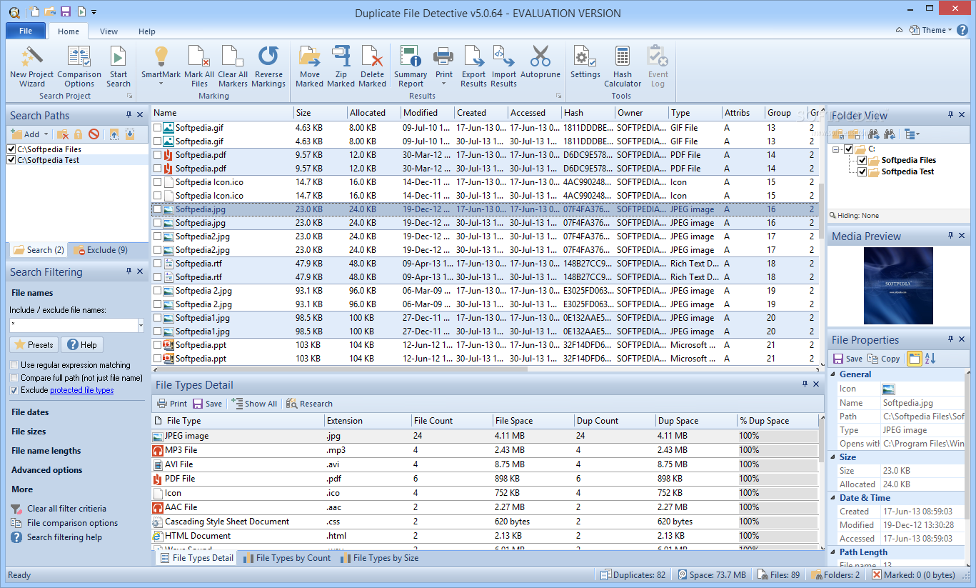 Duplicate File Detective 5.1 Professional + Crack Download