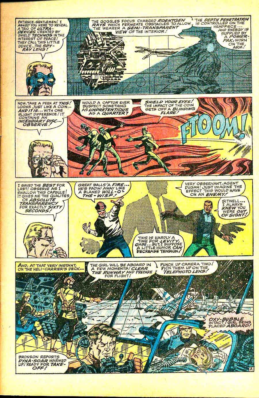 Strange Tales v1 #156 nick fury shield comic book page art by Jim Steranko
