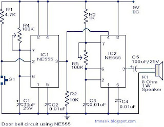 Wiring Pre Circuit diagram: Door bell circuit using NE555