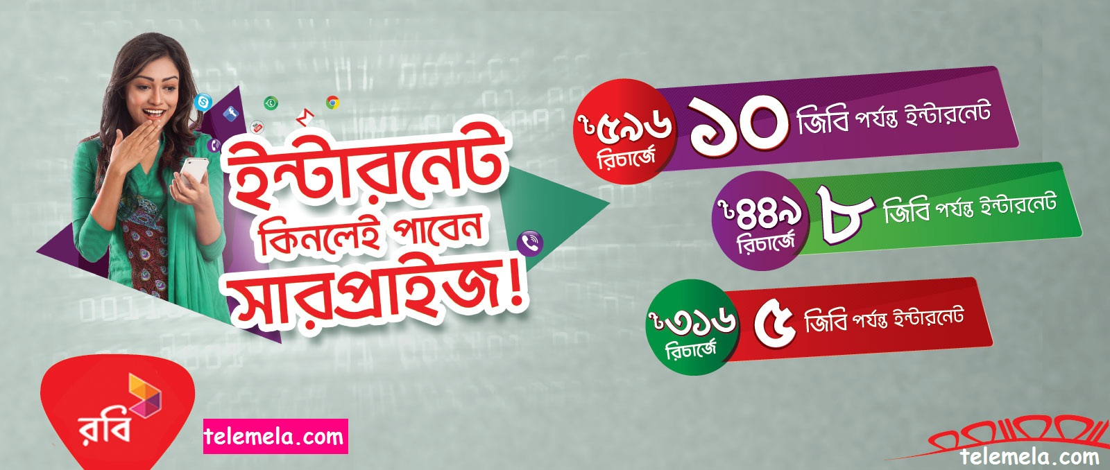 Robi Surprise Internet Pack Offer