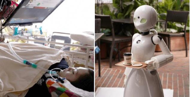 A Japanese restaurant hired paralyzed people to control robot servers so they can have an income