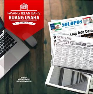 iklan baris Ruang Usaha di koran Solopos