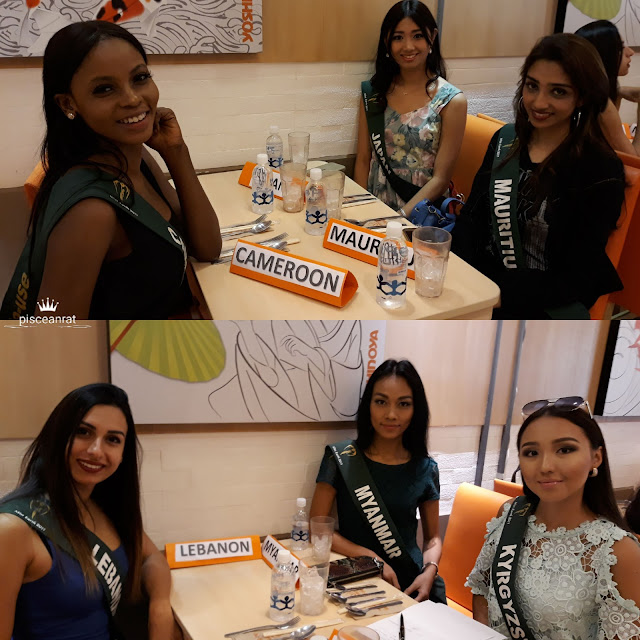 miss earth Cameroon, Japan, Mauritius, Lebanon, Myanmar, Kyrgyzstan.