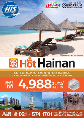 paket tour hothainan his travel indonesia