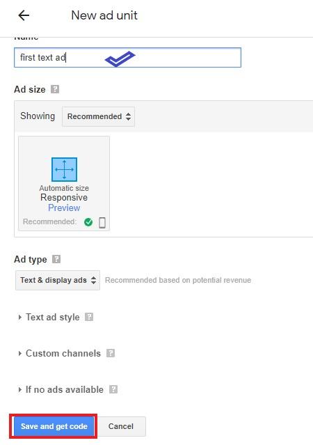 Google-ads-code