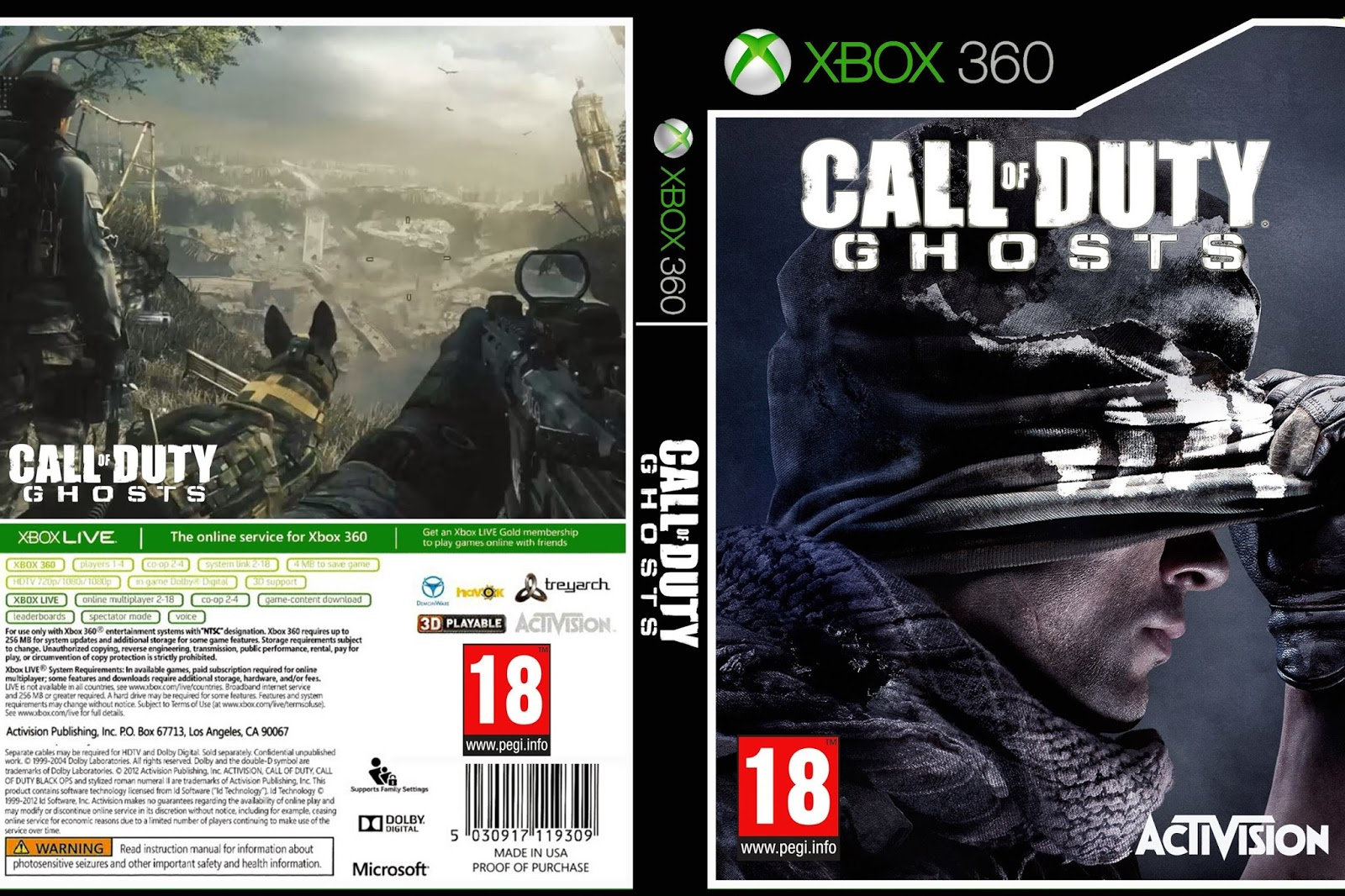 Call Of Duty Ghosts - Xbox 360 - Ultra Capas