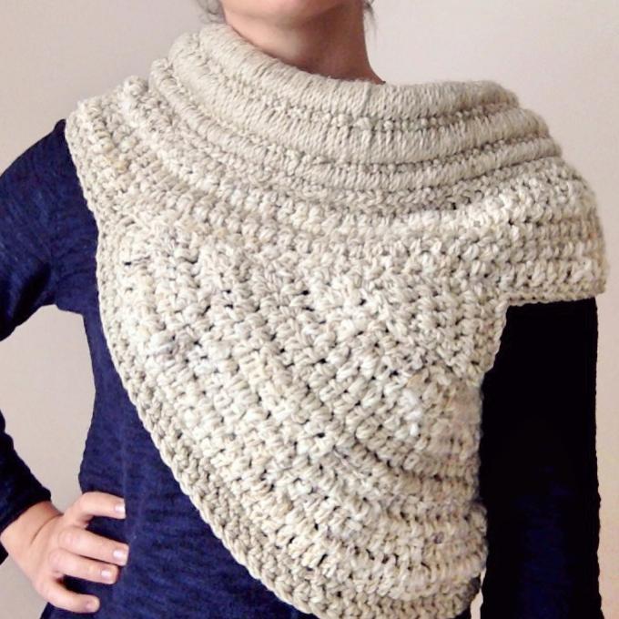 instrucciones gratis katniss cowl crochet ganchillo