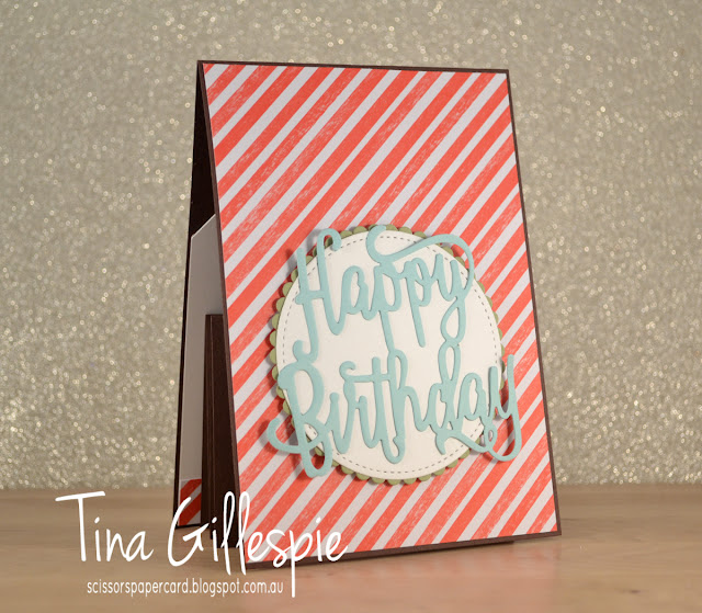 scissorspapercard, Stampin' Up!, Cool Treats, Happy Birthday Thinlit, Stitched Shapes Framelits, Frozen Treats Framelits, Tasty Treats SDSP